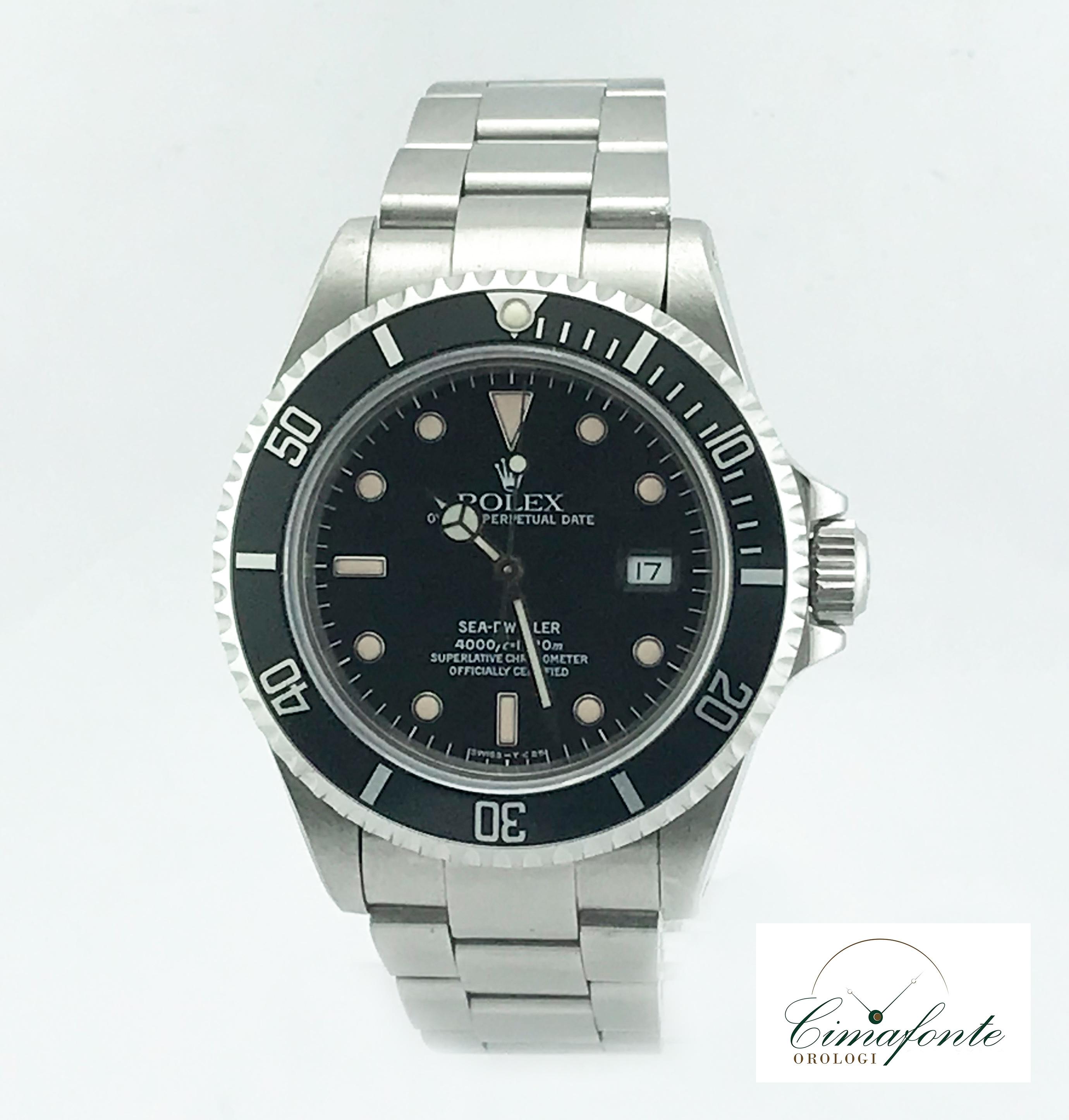 Rolex SeadWeller 16600 1992 tritium