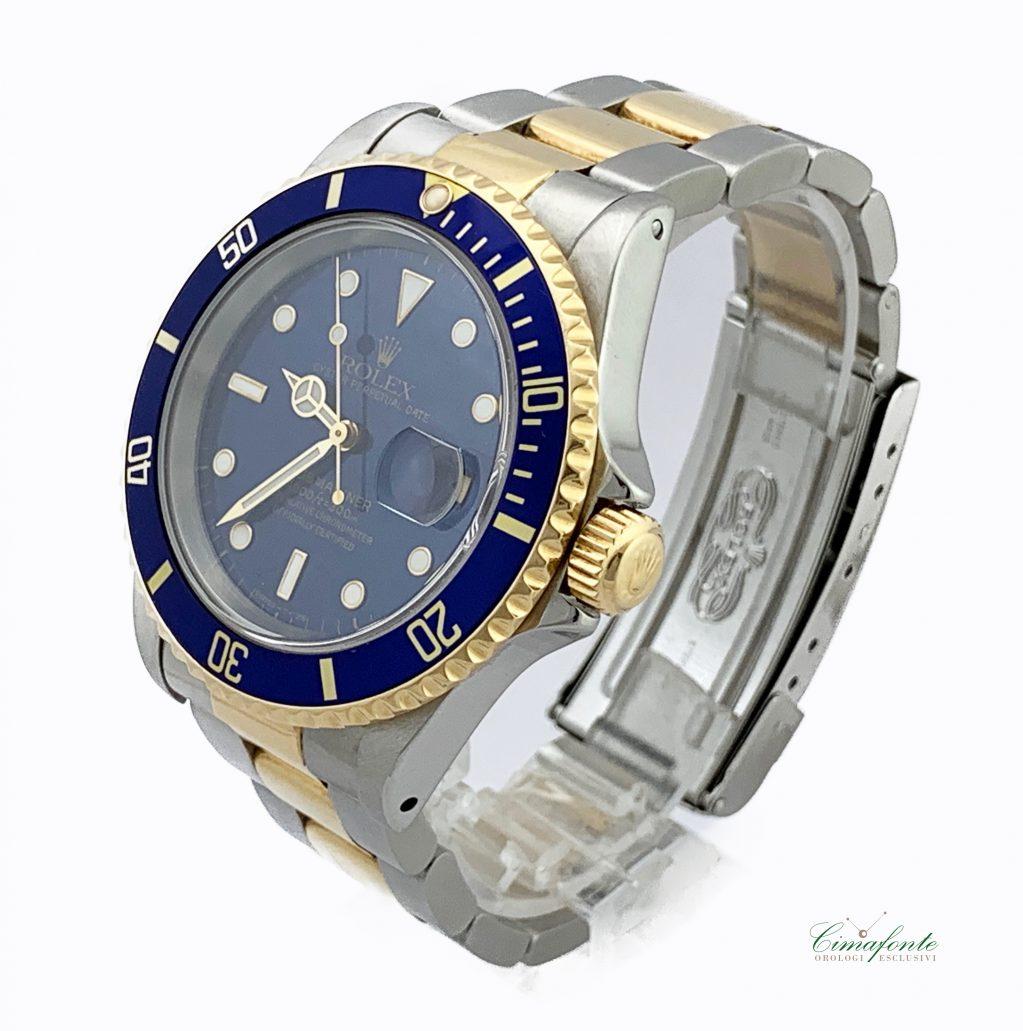 Rolex Submariner ref.16613 Blu Dial Violet anni 90 secondo polso