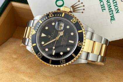 Rolex Submariner Acciaio e oro referenza 16613 secondo polso