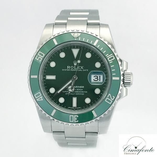 Rolex Submariner 116610LV hulk Ghiera Verde