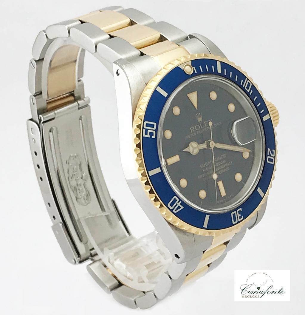Rolex Submariner 16803 Acciao e oro blu dial