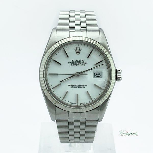 Rolex Datejust 16014 Secondo Polso usato Quadrante Bianco