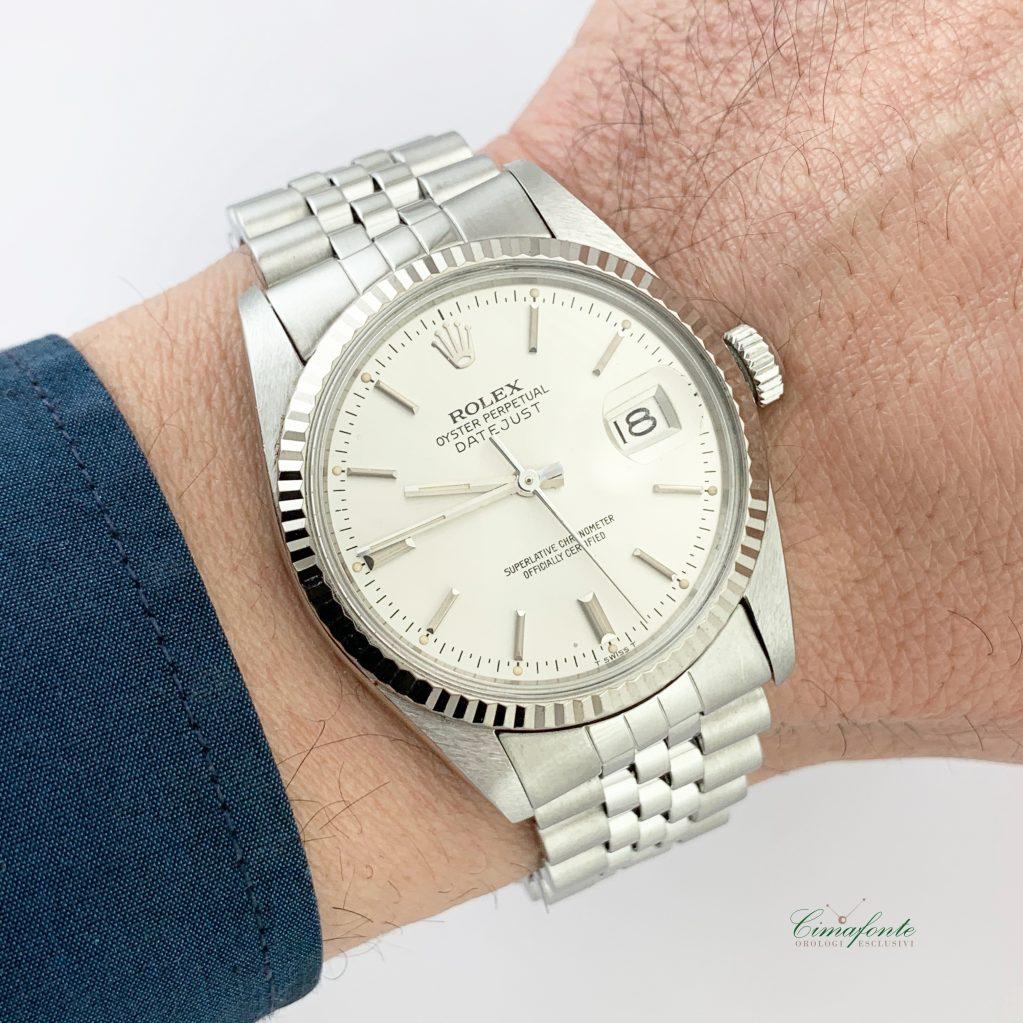 Rolex Datejust 16014 Secondo Polso usato Quadrante argento