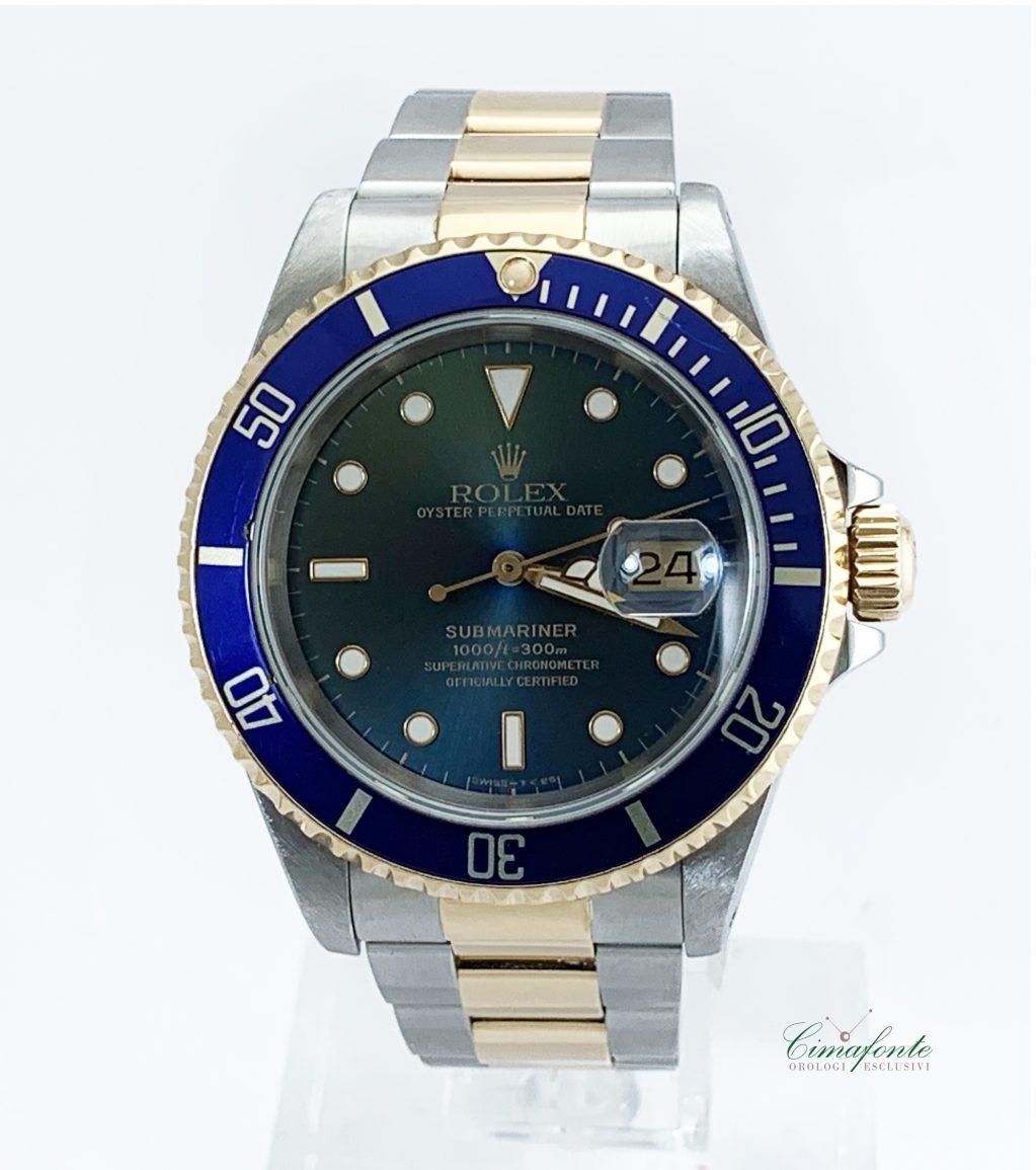 Rolex Submariner acciaio e oro ref.16613 anno 1991 secondo polso seriale x