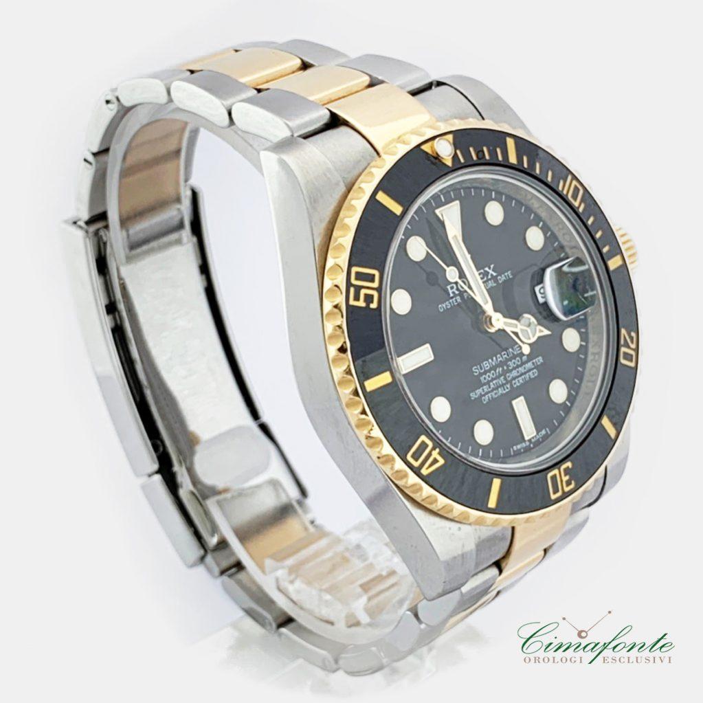 Rolex Submariner Ghiera ceramica acciaio e oro Ref.116613 LN