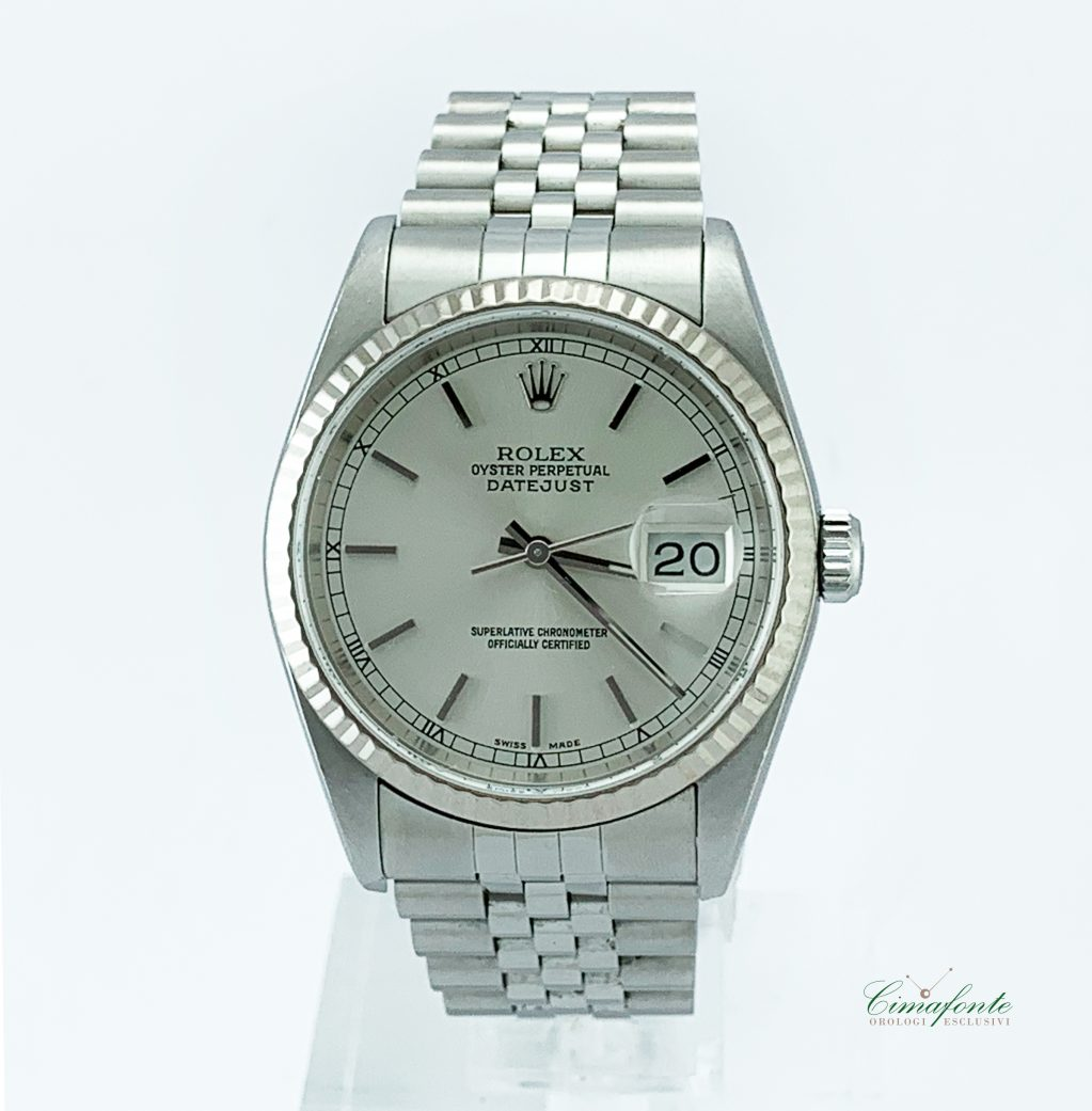 Rolex Datejust 16234 2004 secondo polso Lunetta oro