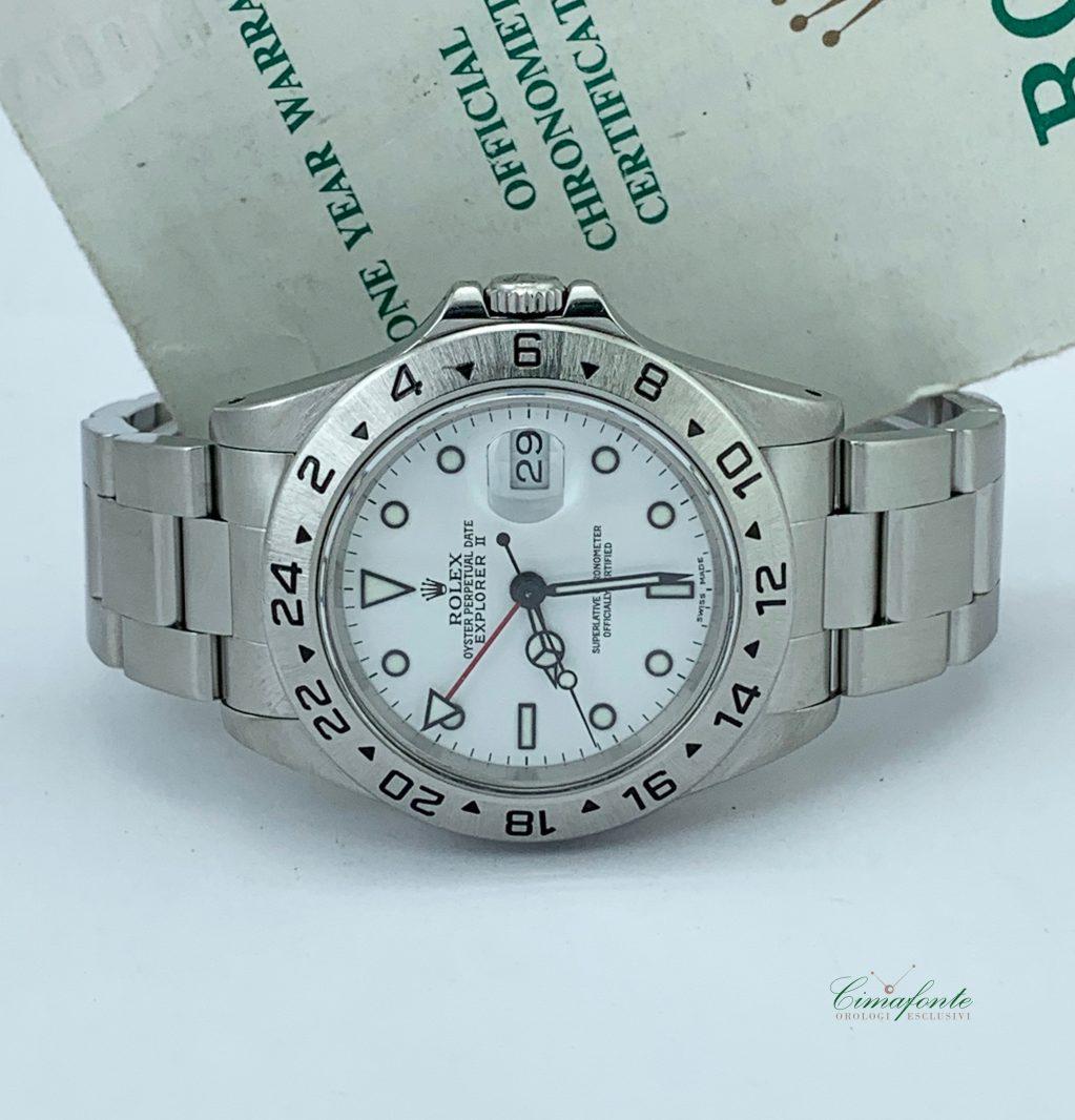 Rolex Eplorer 2 Referenza 16570 anni 1990 secondo polso Dial Bianco