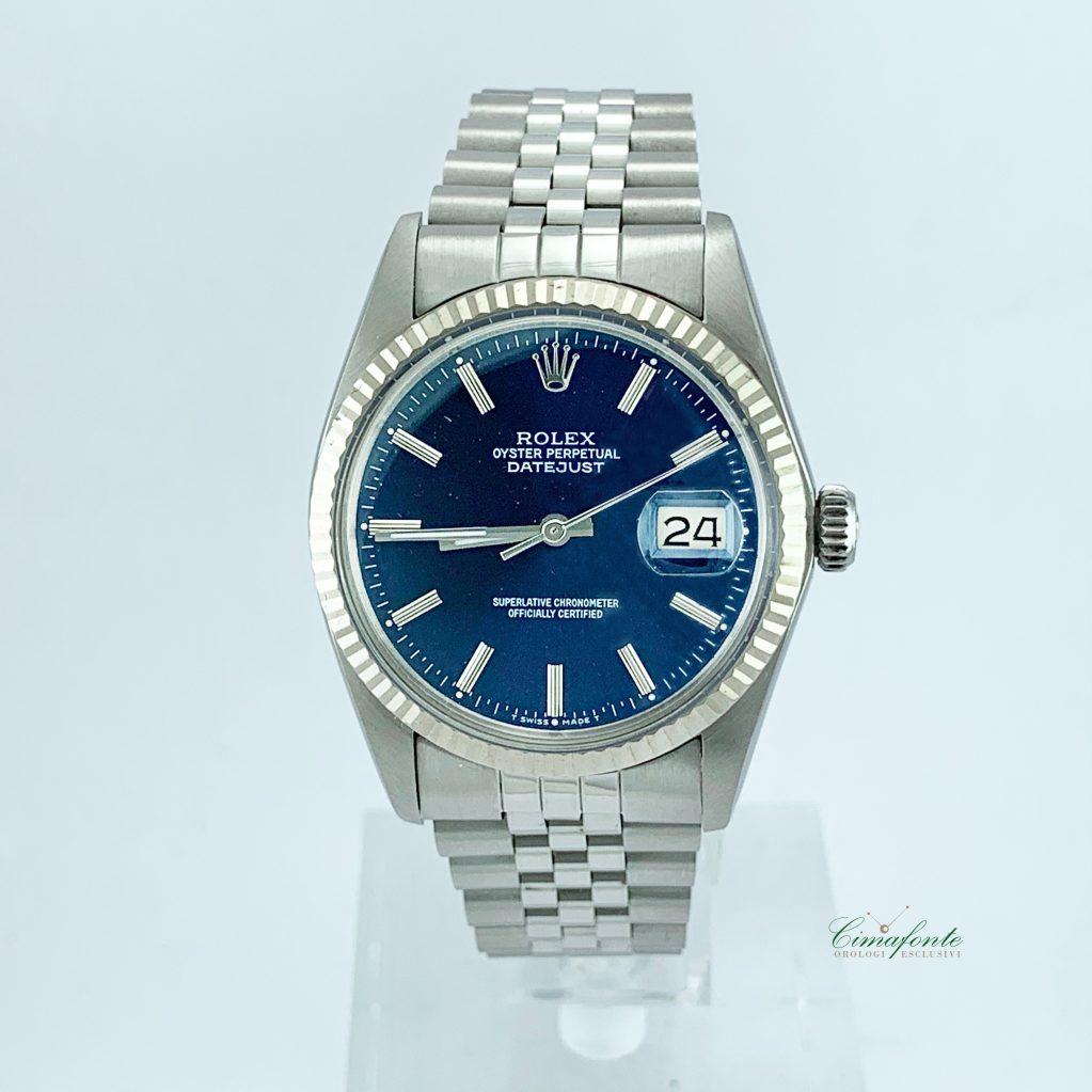 Rolex Datejust Ref.16014 anni 80 quadrante Blu secondo Polso