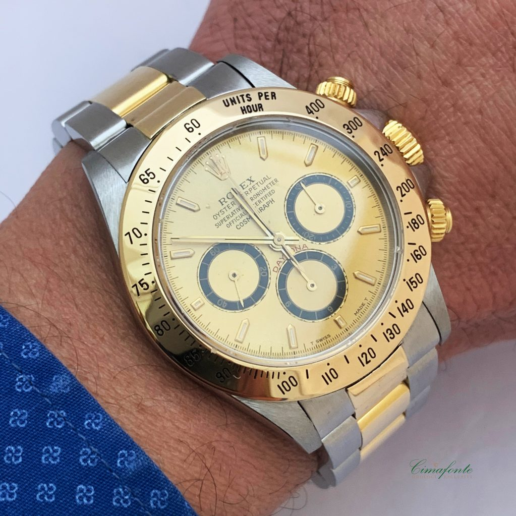 Rolex Daytona ref.16523 Acciaio e oro Movimento Zenith el primero secondo polso