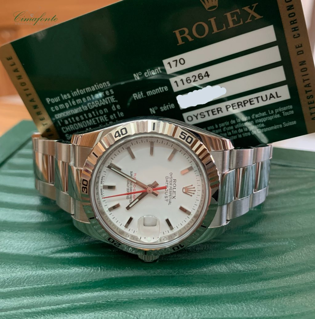 Rolex Turn-o-Graph mm. 36 Ref. 116264 secondo polso