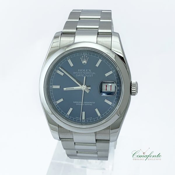 Rolex DateJust 36mm Referenza 116200 Secondo Polso