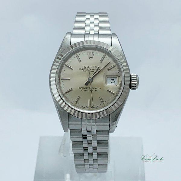 Rolex Datejust Lady 69174 1990 26mm usato jubilee Acciaio Secondo Polso