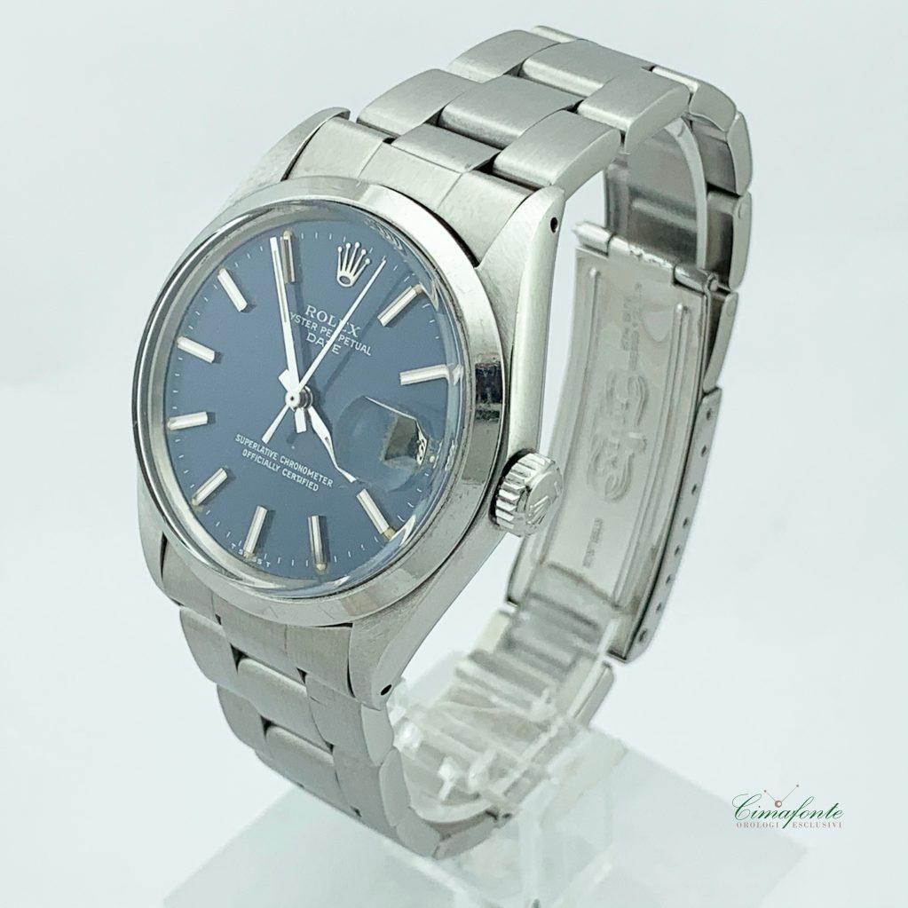 Rolex Date 1501 1970 Usato Acciaio Oyster blu Dial