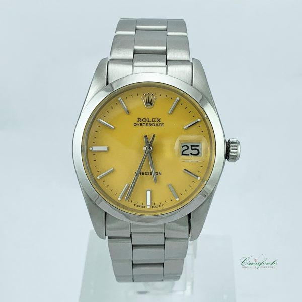 Rolex Precision 6694 1970 34mm Usato Yellow Dial