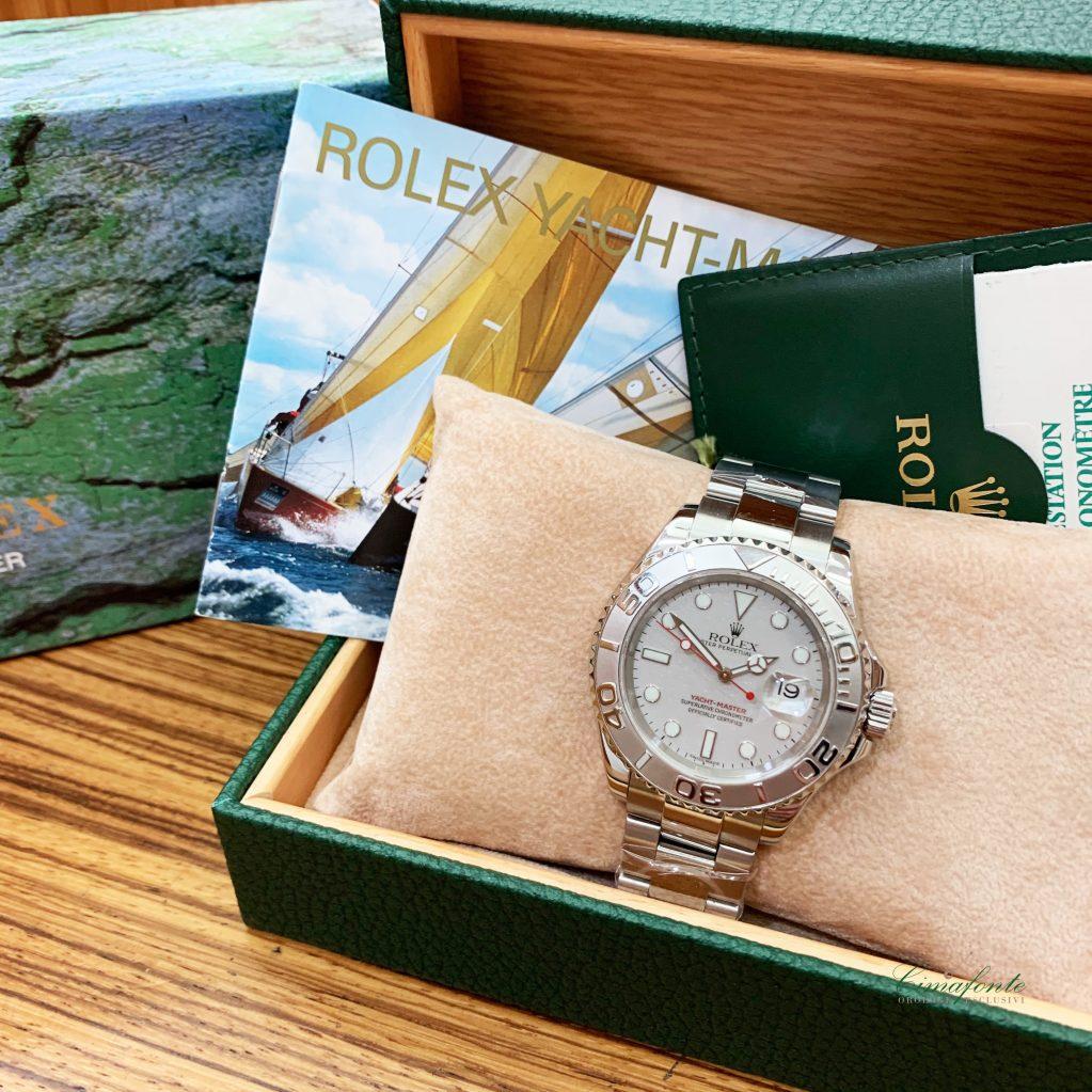 Rolex Yatch-master 16622 2002 usato acciaio Oyster secondo polso ghiera platino