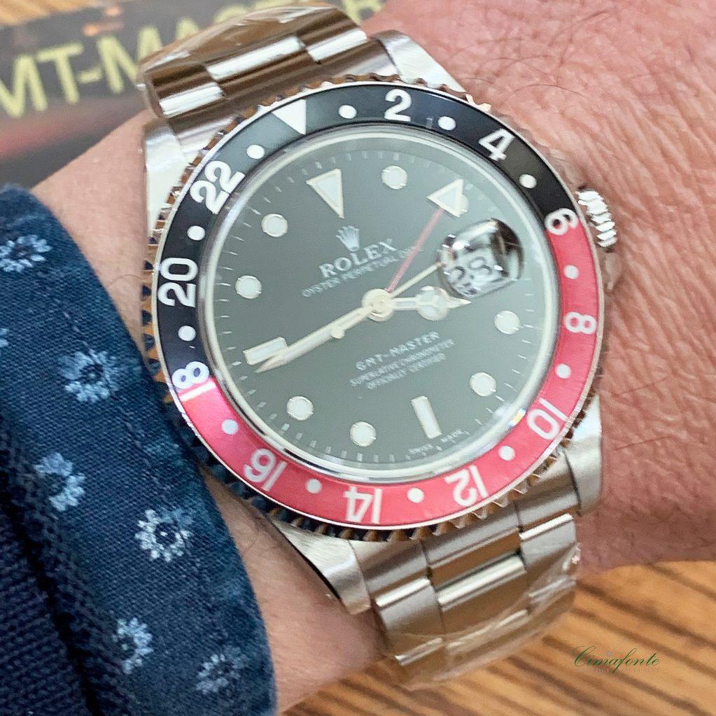 Rolex Gmt Master 16700 1998 40mm Ghiera coke usato secondo polso