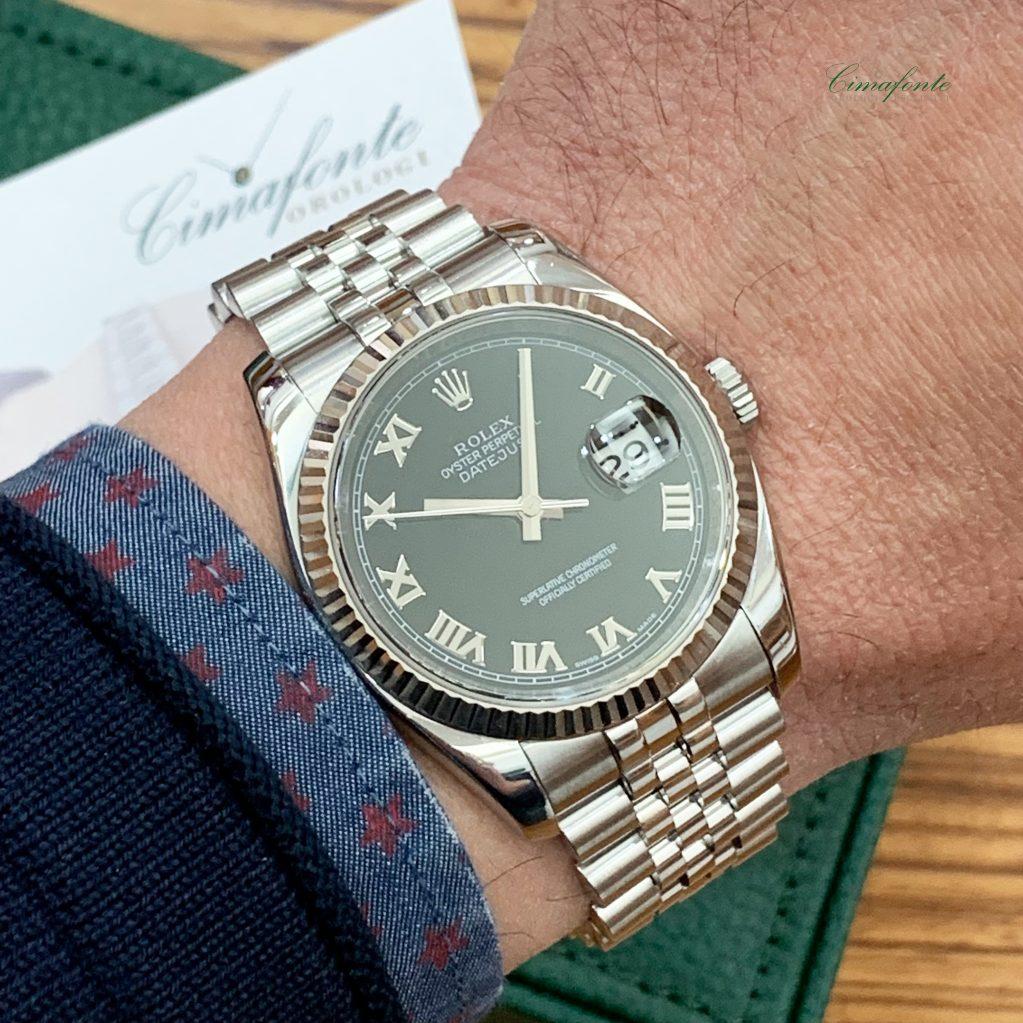 Rolex Datejust 116234 Dial Nero Nero Secondo Polso